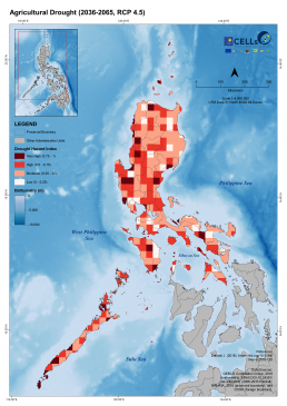 Luzon Agricultural Drought (2036-2065, RCP 4.5) 2