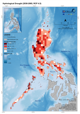 Luzon Hydrological Drought (2036-2065, RCP 4.5) 2