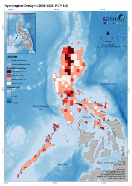Luzon Hydrological Drought (2006-2035, RCP 4.5)