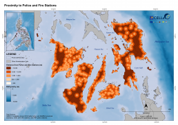 Visayas Proximity to Police and Fire Stations