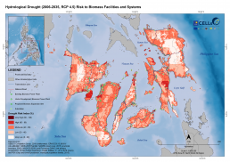 Hydrological Drought (2006-2035, RCP 4.5) Risk to Biomass Facilities and Systems 1