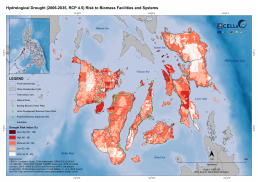 Hydrological Drought (2006-2035, RCP 4.5) Risk to Biomass Facilities and Systems 2